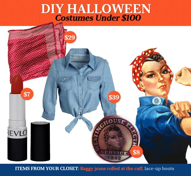 diy halloween costumes under 100 rosie the riveter - Rosie The Riveter Halloween Costume