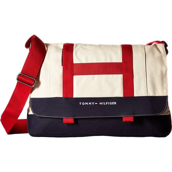 Tommy Hilfiger TH Sport - Core Plus Messenger (Natural Navy Red ... 7264aefb641d4