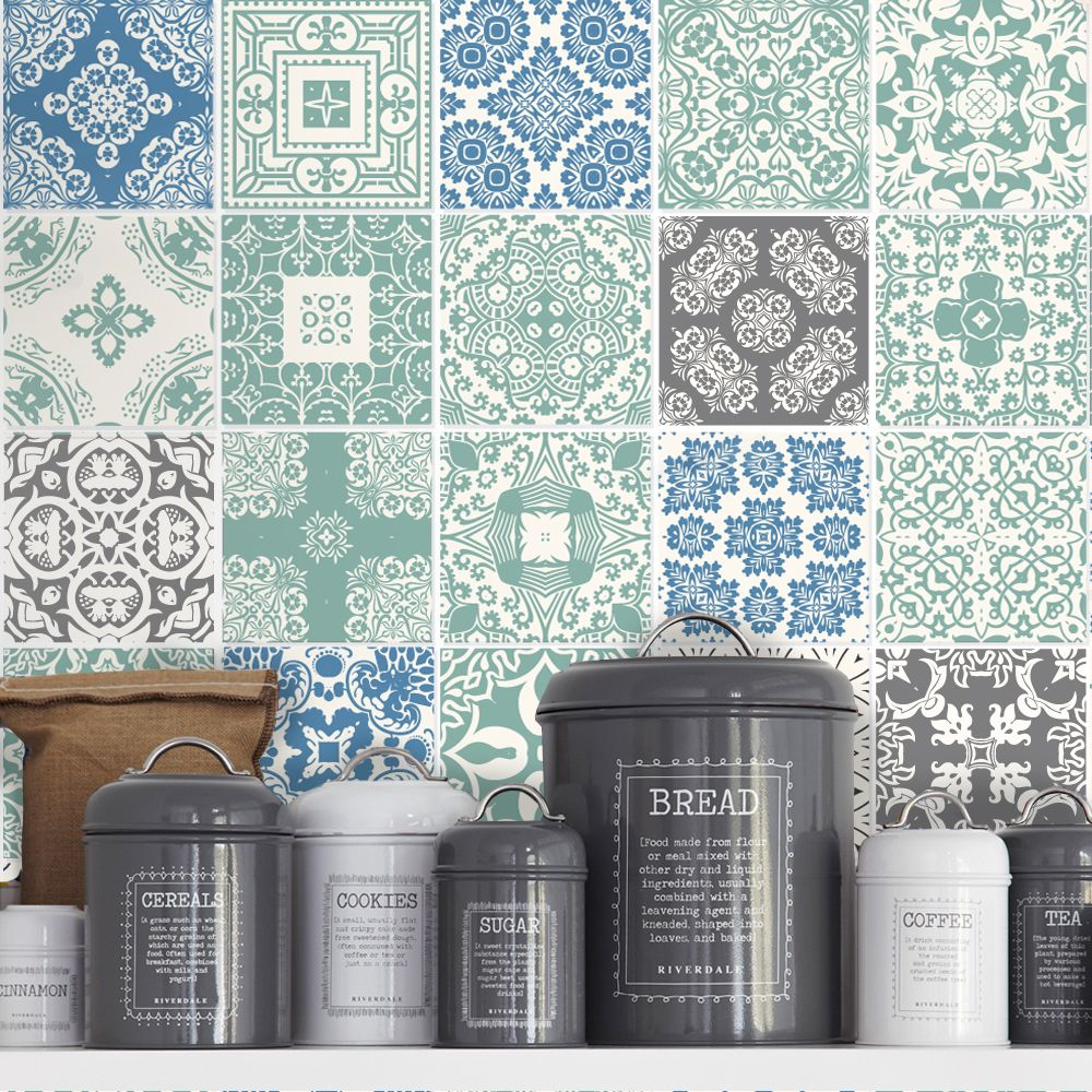 Blue Pastel Tile Stickers. Buy online today at Bouf | Gorgeous Tiles ...