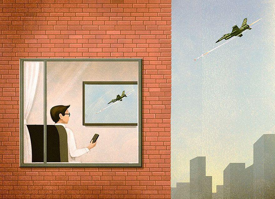 40 ilustrações críticas que mostram duras verdades do mundo moderno