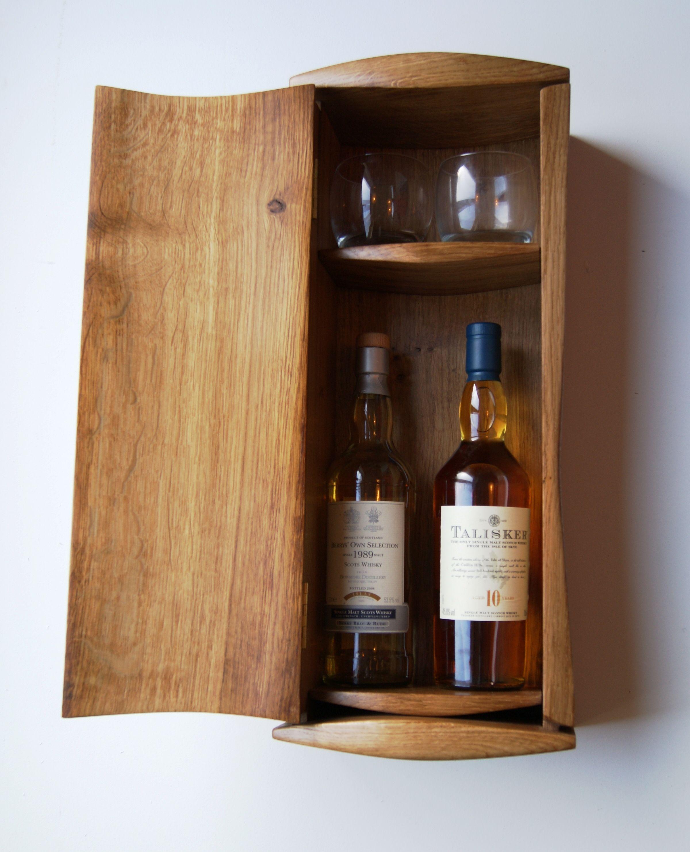 Bon Handmade Whisky Cabinet   Room For Two Bottles Of The Favourite Malt