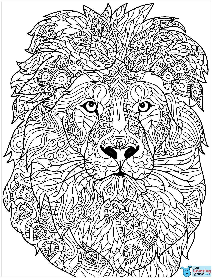 Lion Free To Color For Kids Lion Kids Coloring Pages Pertaining To Gorgeous Lion Coloring Pa Lion Coloring Pages Animal Coloring Books Mandala Coloring Pages