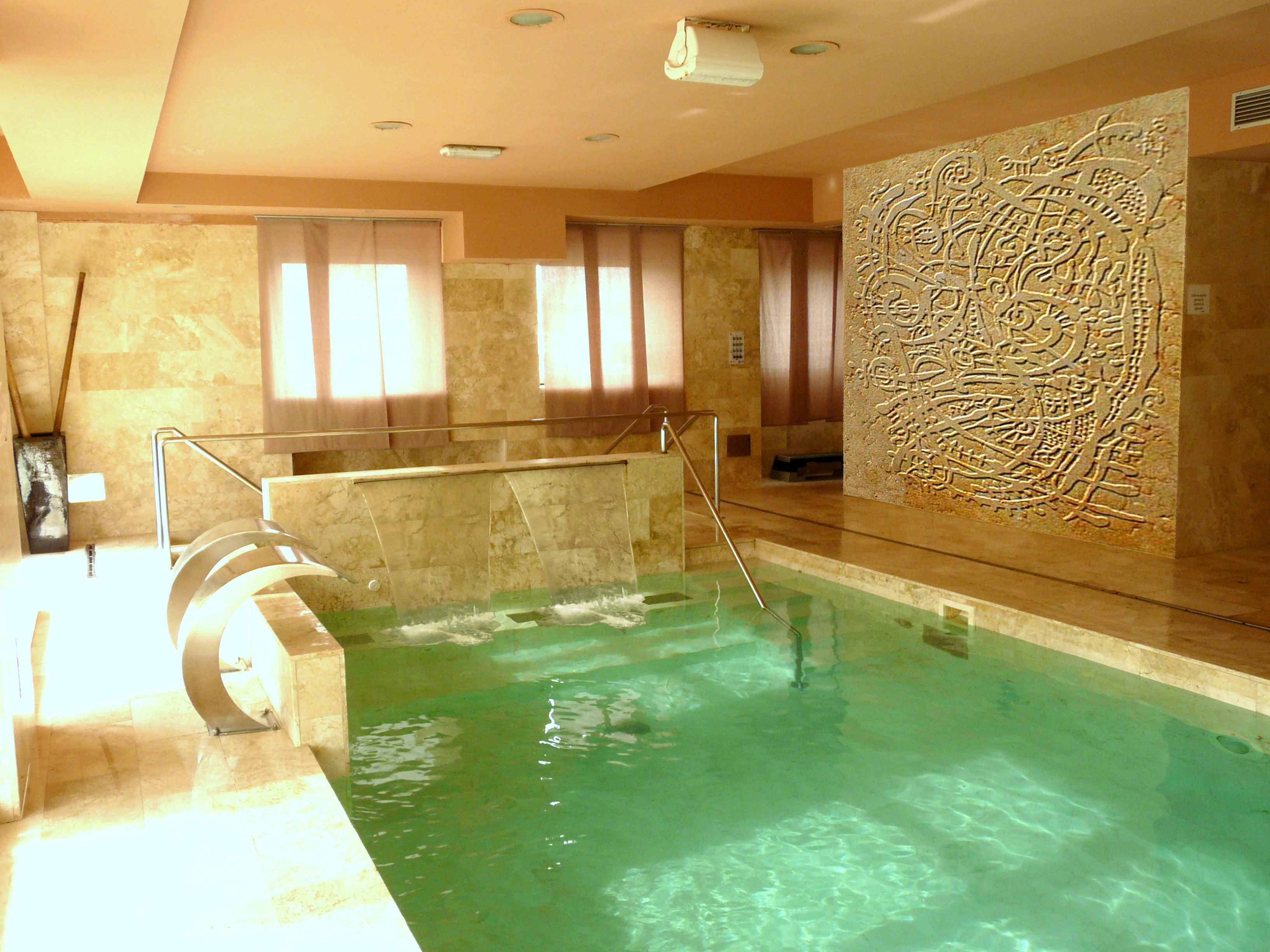 Water and art stone for luxury SPA.