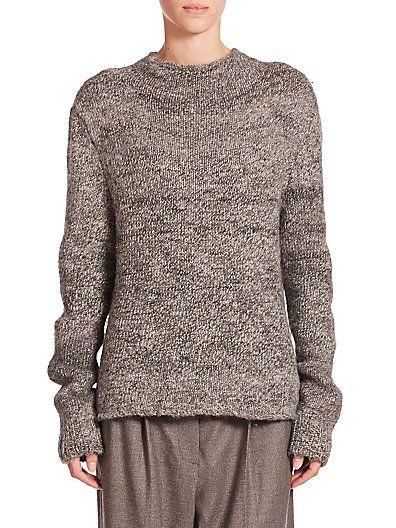 THE ROW Rane Tweed Knit Sweater. #therow #cloth #sweater