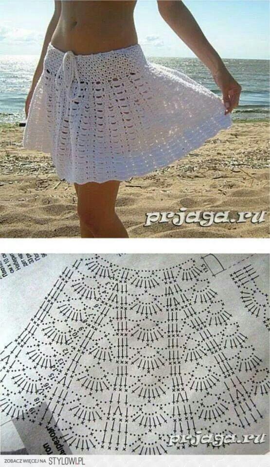 Beach Skirt. | vestidos de vano | Pinterest | Häkelanleitung, Häkeln ...