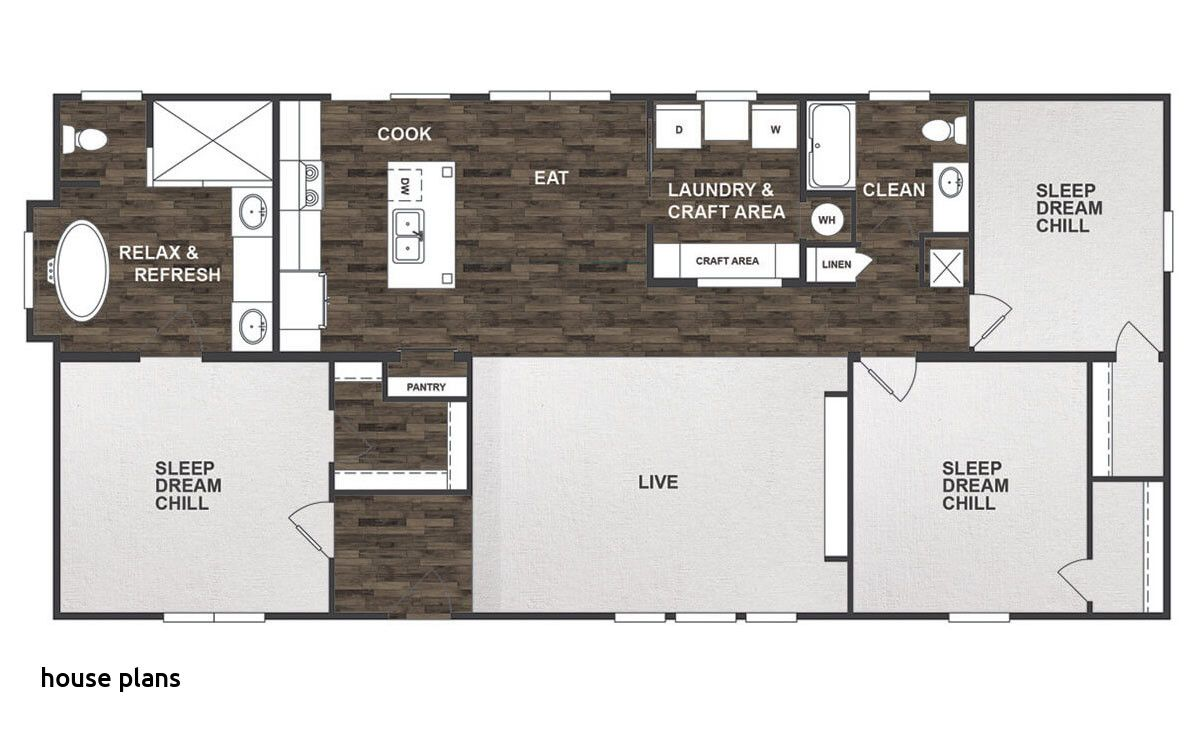 Single Wide 16×80 Mobile Clayton Homes Floor Plans Collection