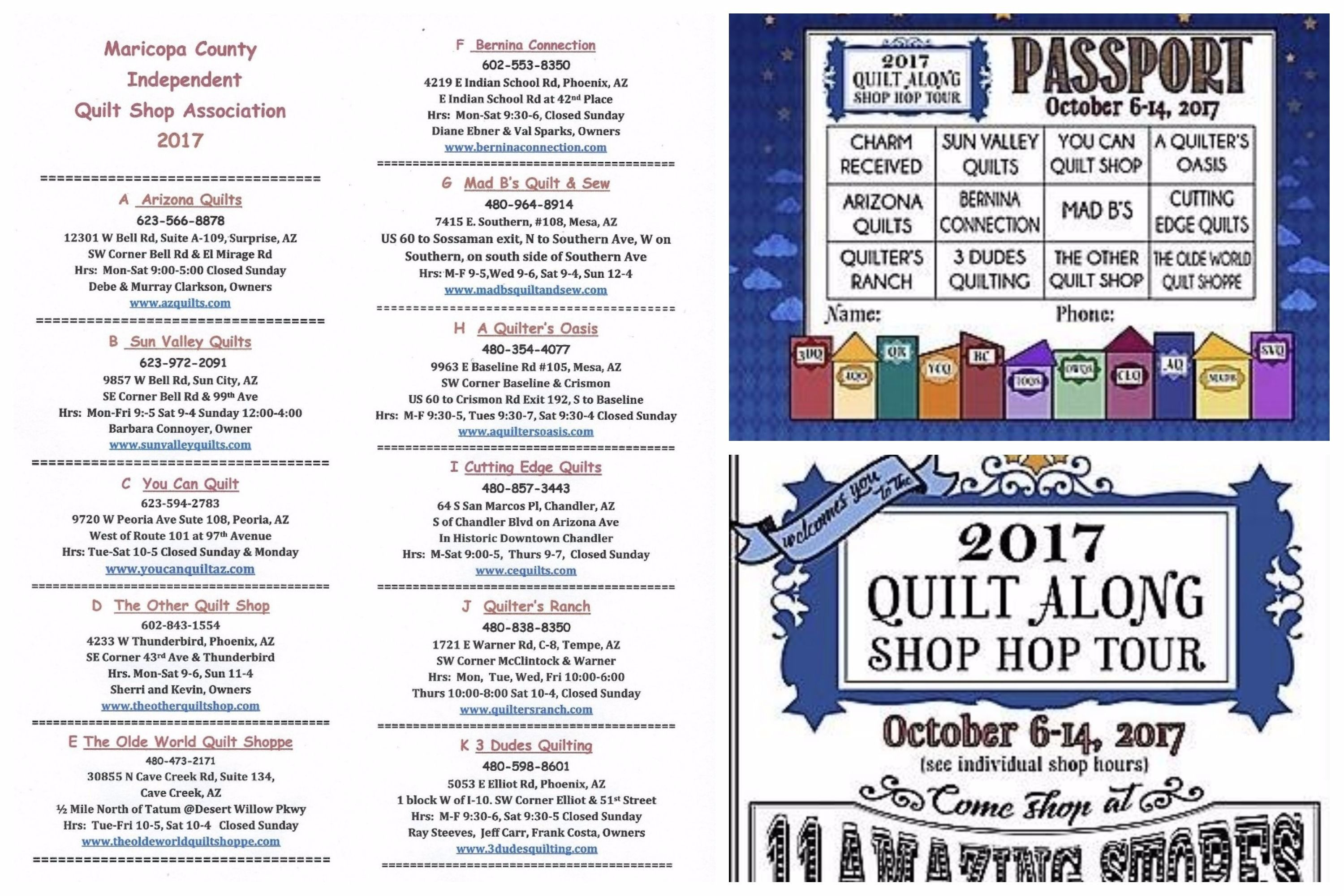 Time to highlight  2017 Quilt Along Shop Hop Tour  by Maricopa ... : quilt stores phoenix az - Adamdwight.com