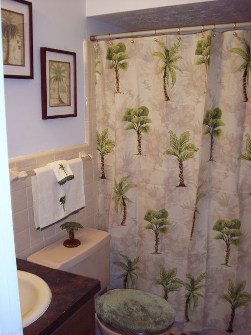 Palm Tree Shower Curtain Google Search Bathroombathrooms Decorbathroom