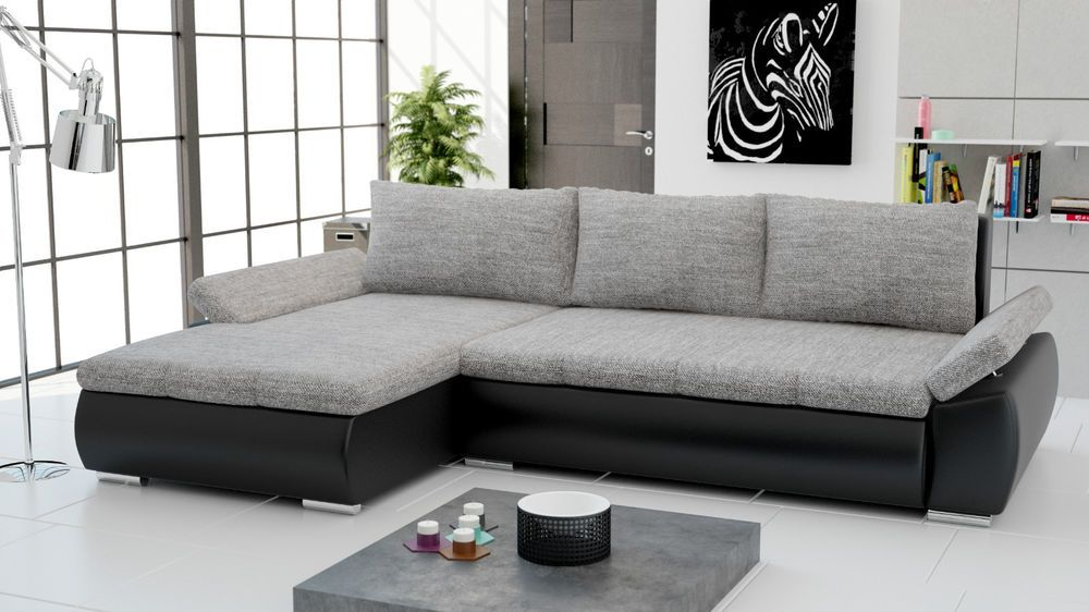 details zu schlafsofa sofa polster wohnzimmer ecksofa textl sitz funktions couch garnitur. Black Bedroom Furniture Sets. Home Design Ideas