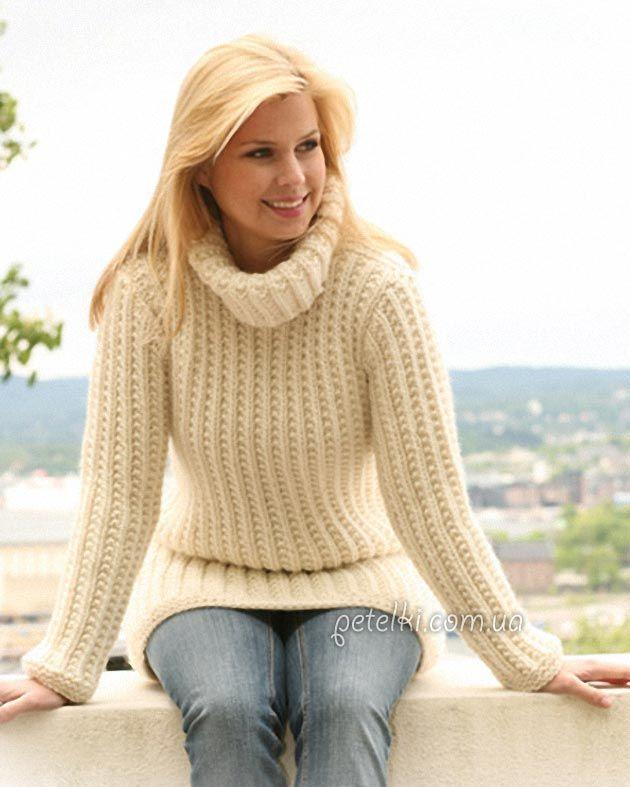 Простой узор для свитера схема