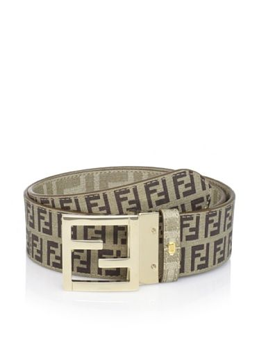 600dae22dc 51% OFF Fendi Men's Reversible Belt (Khaki/Gold)   Belts   Belt ...