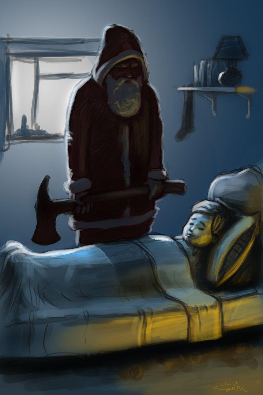 Bad Santa By Mrtomlong On Deviantart Bad Santa Creepy Christmas Scary Christmas