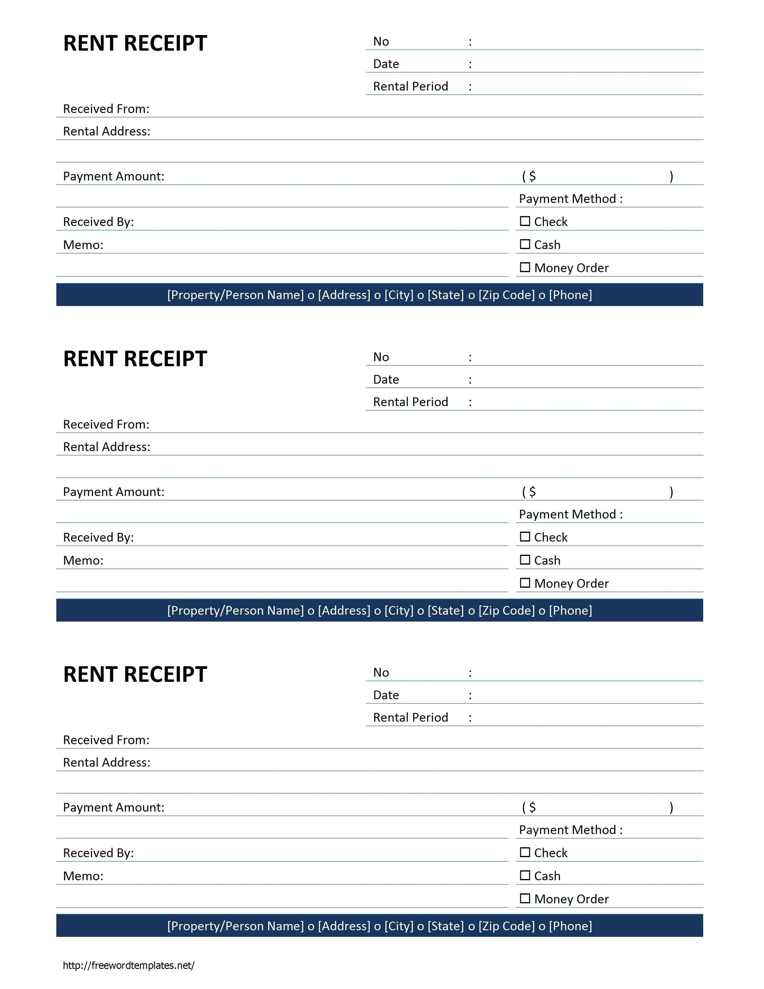 rent receipt template free microsoft word templates free rent
