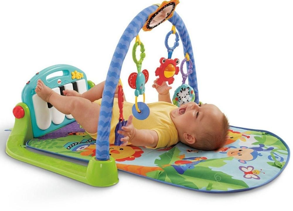 6e2af5d30 Fisher Price Kick and Play Piano Gym Baby Activity Mat Music Toy ...