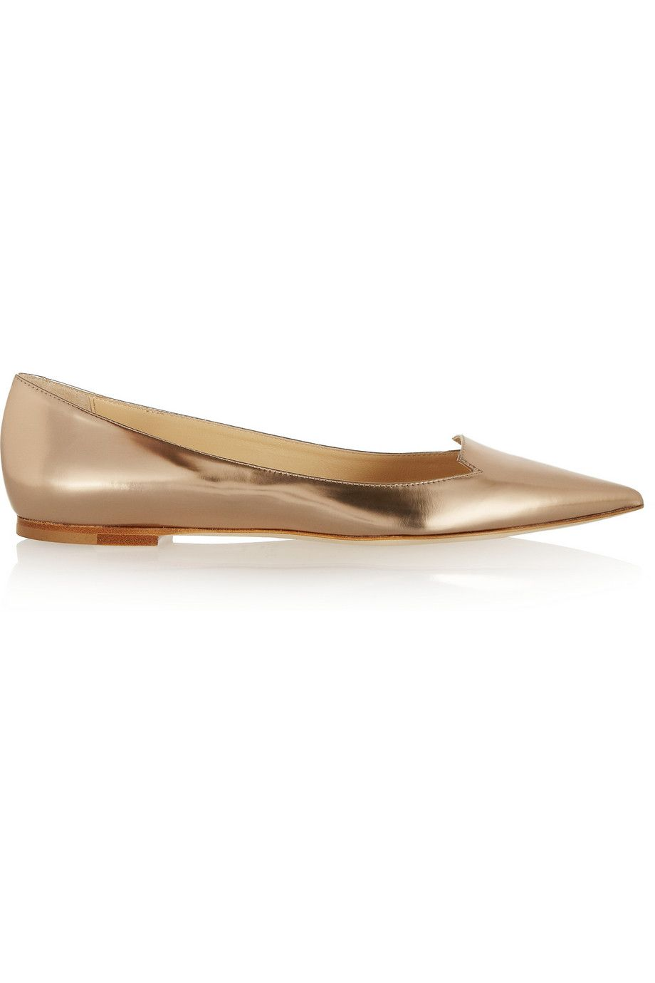 jimmy choo attila mirrored leather point toe flats these shoes are rh pinterest com