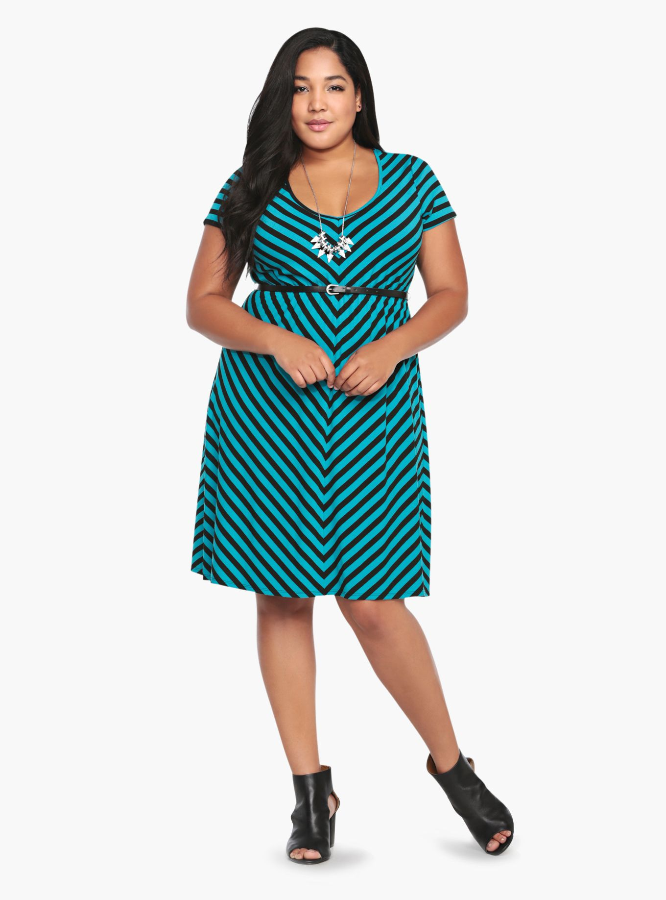 Chevron Striped Belted Dress | Torrid | My Style | Pinterest ...