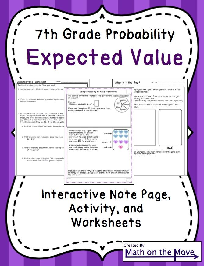 From the MIxedup Files Whole Book Test – Expected Value Worksheet