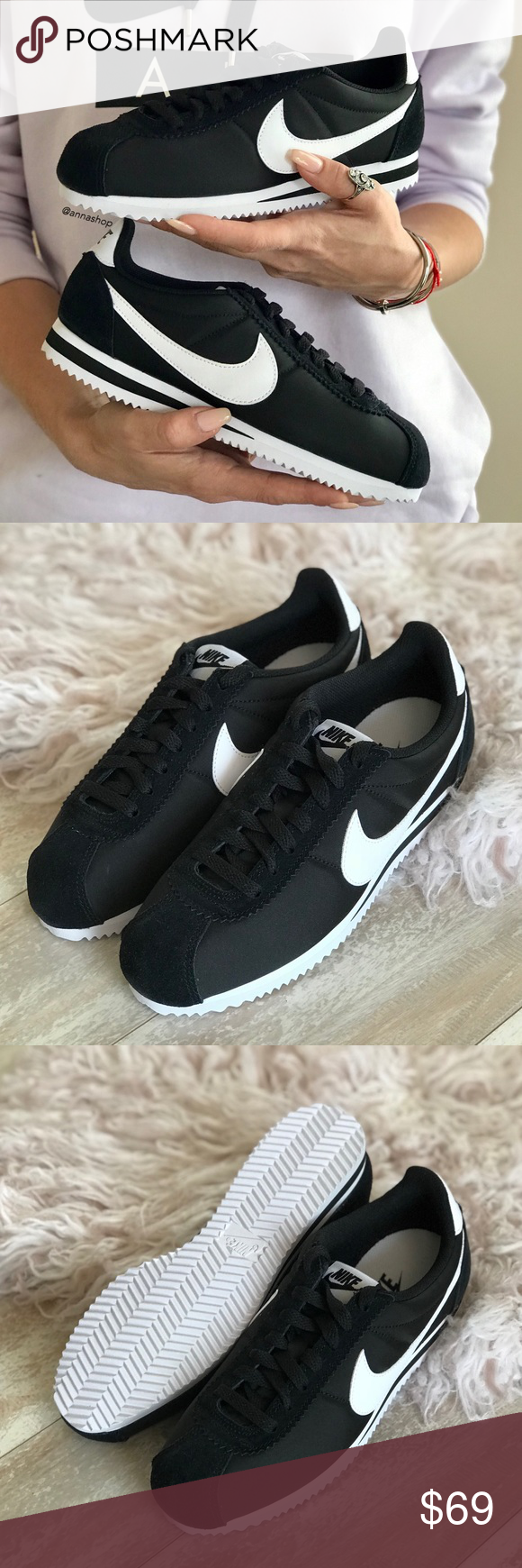 pretty nice 3571b 72971 NWT🖤Nike Cortez neylon black Brand new with box, no lid.Price is