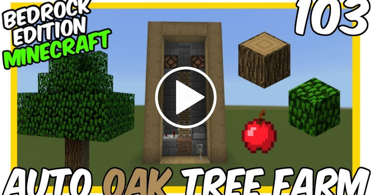 How To Make A Xp Farm In Minecraft Bedrock Automatic Oak Tree Farm Minecraft Bedrock Edition Mcpe Minecraft Farm Minecraft Automatic Farm Oak Tree Farms