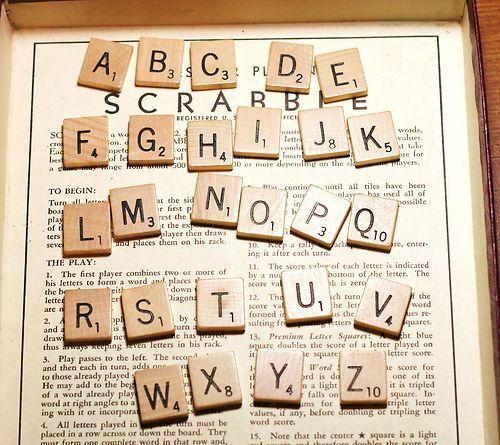 Individual Scrabble Tiles Letters - Pick Your Letter