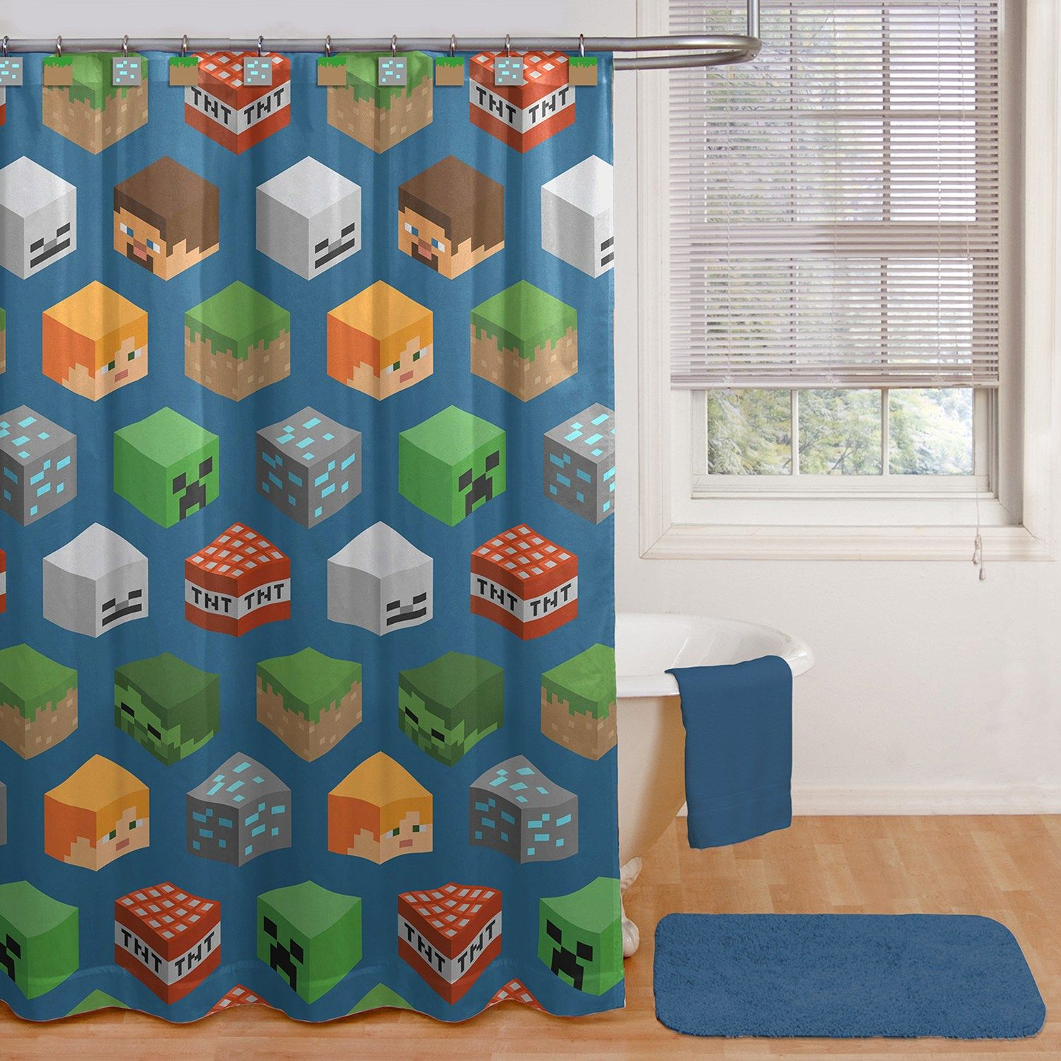 Minecraft Characters Shower Curtain Hooks Characters