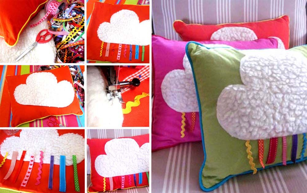 diy coussin nuage rubans pinterest cloud pillow and diy baby. Black Bedroom Furniture Sets. Home Design Ideas