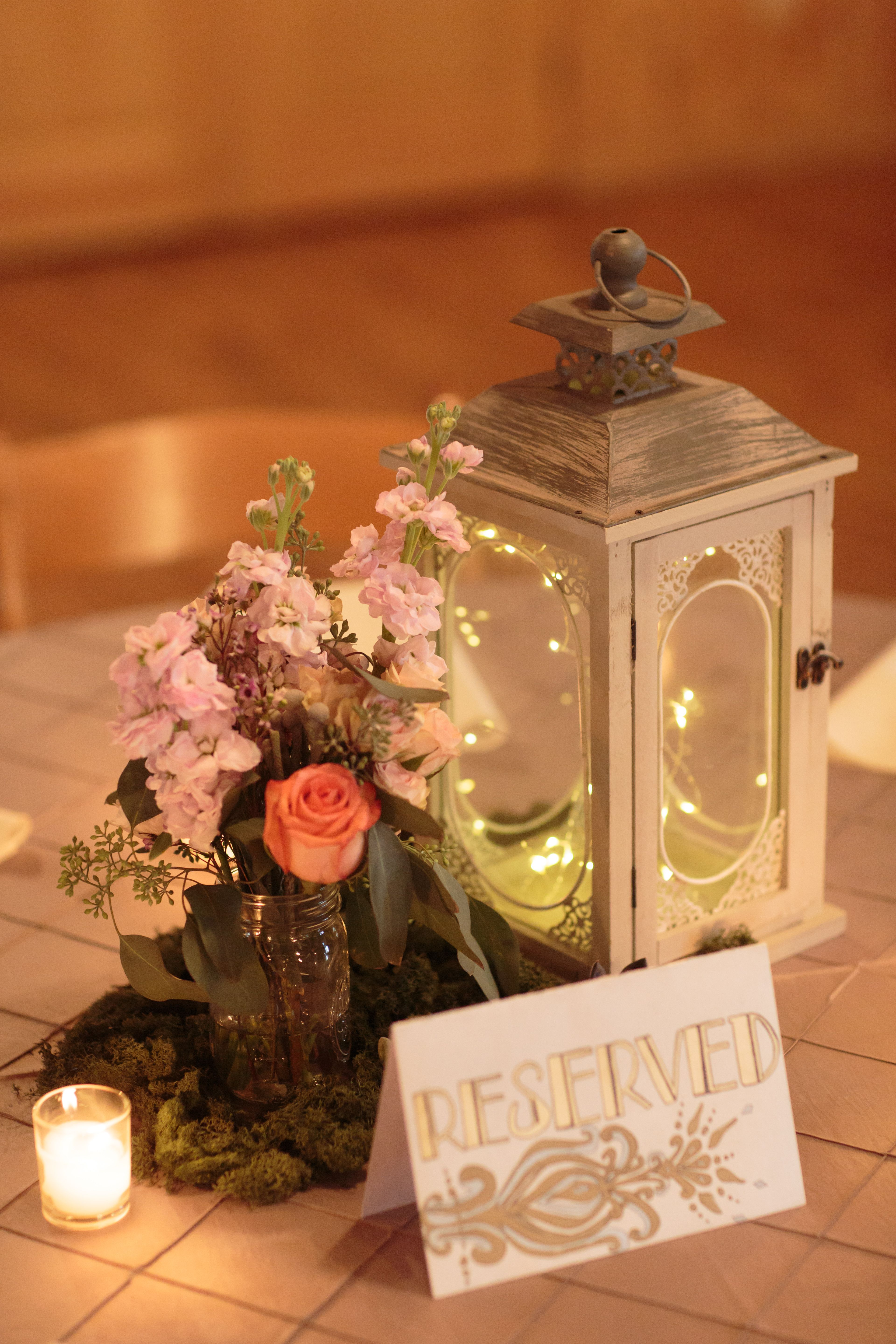 Whimsical Lantern Centerpiece With Fairy Lights At The Springs