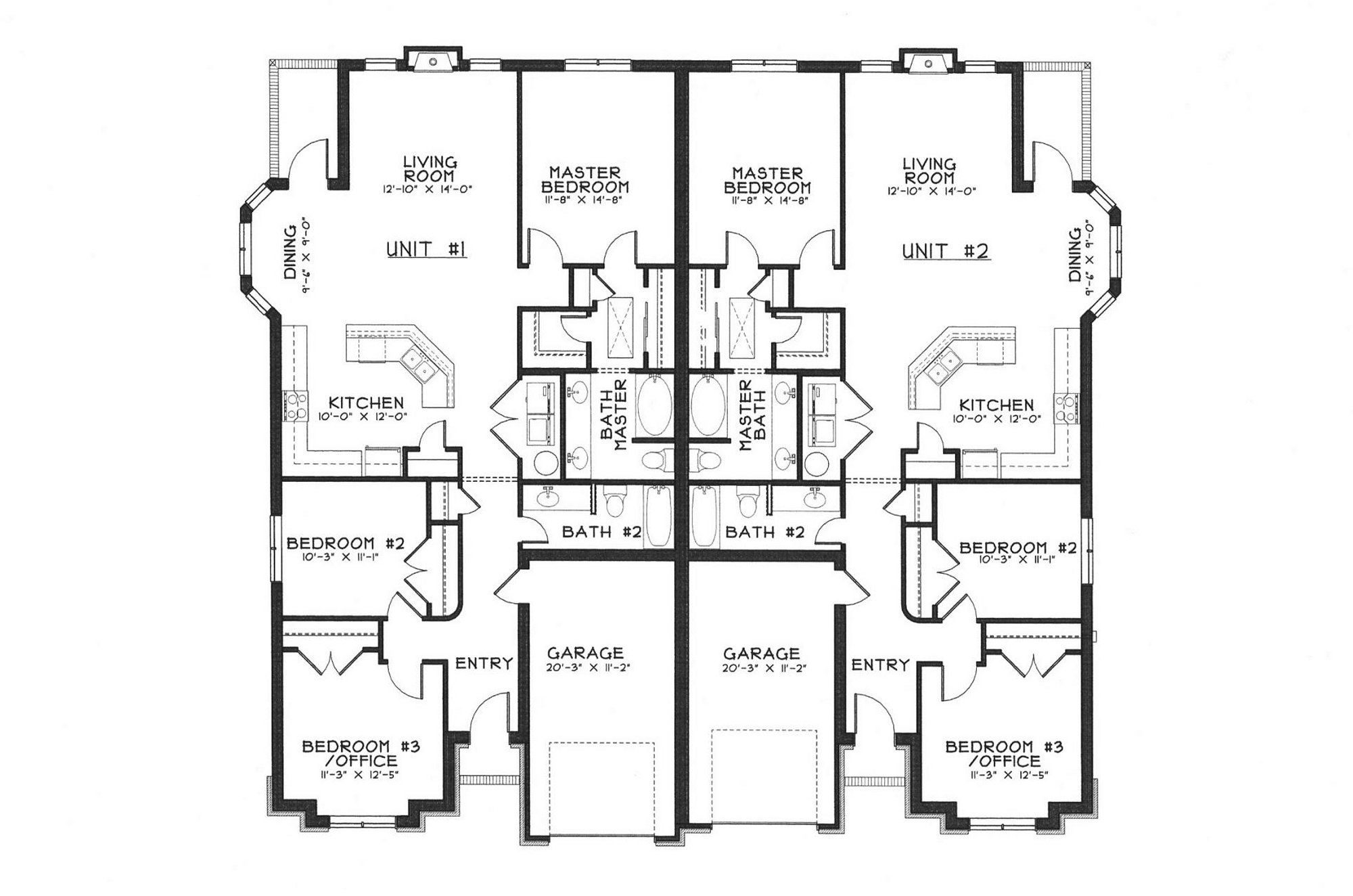 Duplex House Plans Free Download Modern Designs Floor cubtab