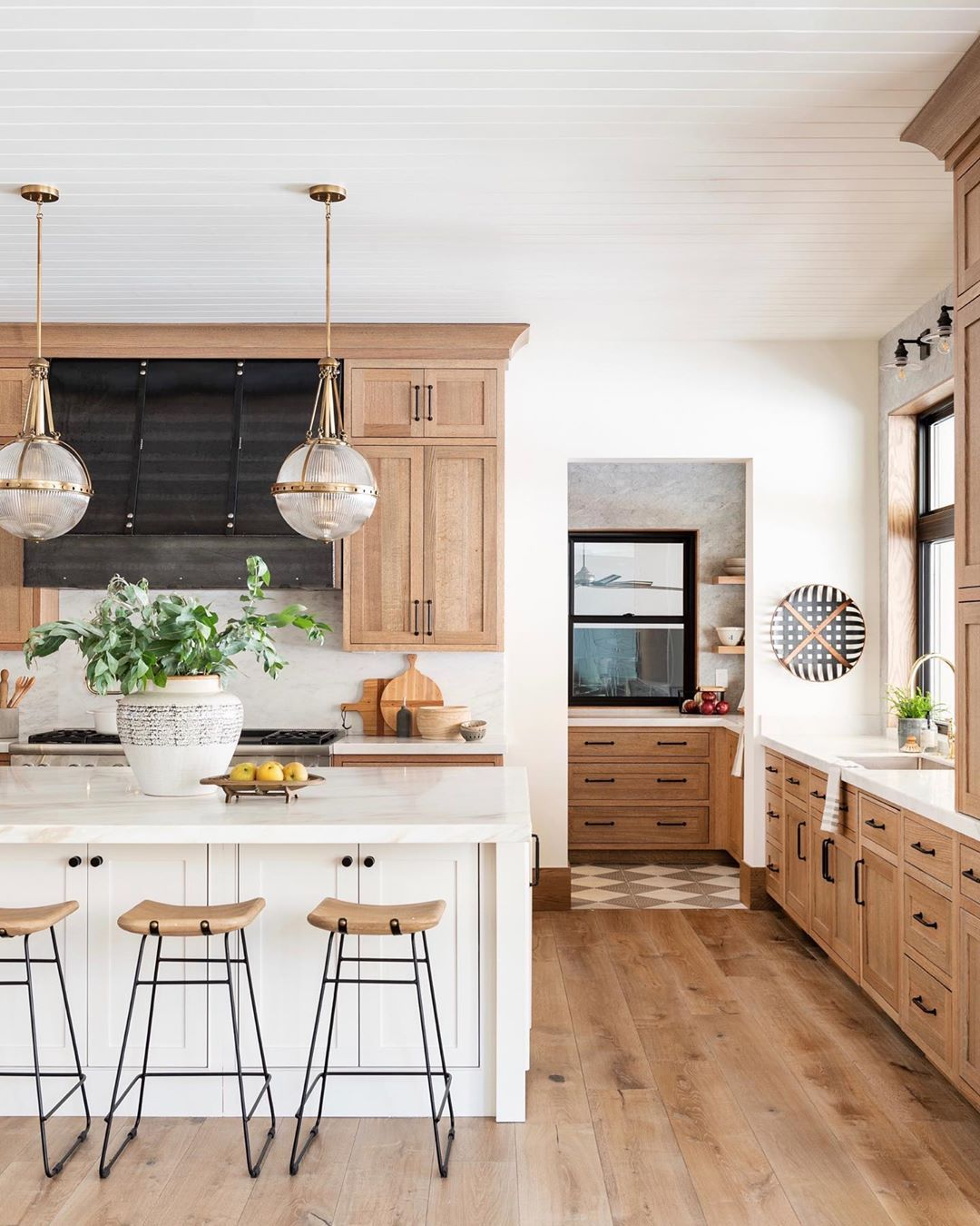 "Studio McGee on Instagram: ""Today on the blog we're talking about this kitchen! If you think this view is pretty, you need to see the inside of the pantry. You know…"""