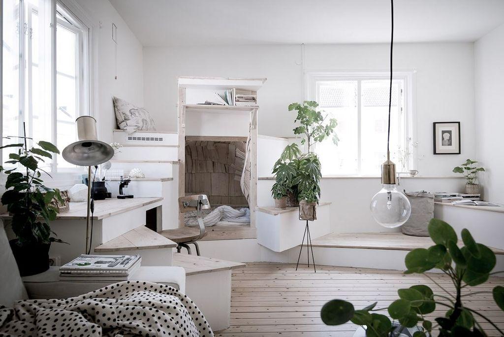 Underbar lägenhet som tar compact living till en helt ny nivå (missa inte sängen!) #compactliving
