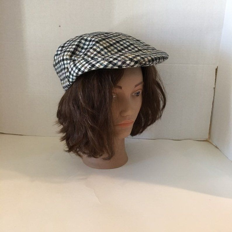 dc1256e5 1960s Newsboy Cap / Stetson Wool cap / Brown flecked cap /Golfers cap  /Cabbie