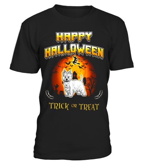 "# West Highland White Terrier Dog Happy Halloween T-Shirt .  Special Offer, not available in shops      Comes in a variety of styles and colours      Buy yours now before it is too late!      Secured payment via Visa / Mastercard / Amex / PayPal      How to place an order            Choose the model from the drop-down menu      Click on ""Buy it now""      Choose the size and the quantity      Add your delivery address and bank details      And that's it!      Tags: West Highland White Terrier…"