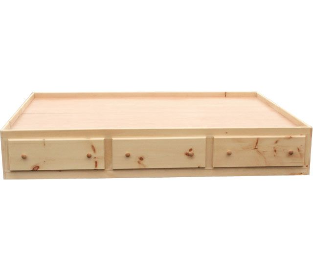 6 Drawer Queen Storage Bed Unfinished 469 99 Might Be A Good Option Depending On How The Drawers Are Twin Storage Bed Bed Frame Design Under Bed Drawers