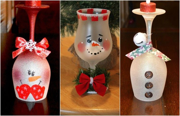 Glas Bemalen Ideen Weihnachten Schneemann Kinder Weihnachten