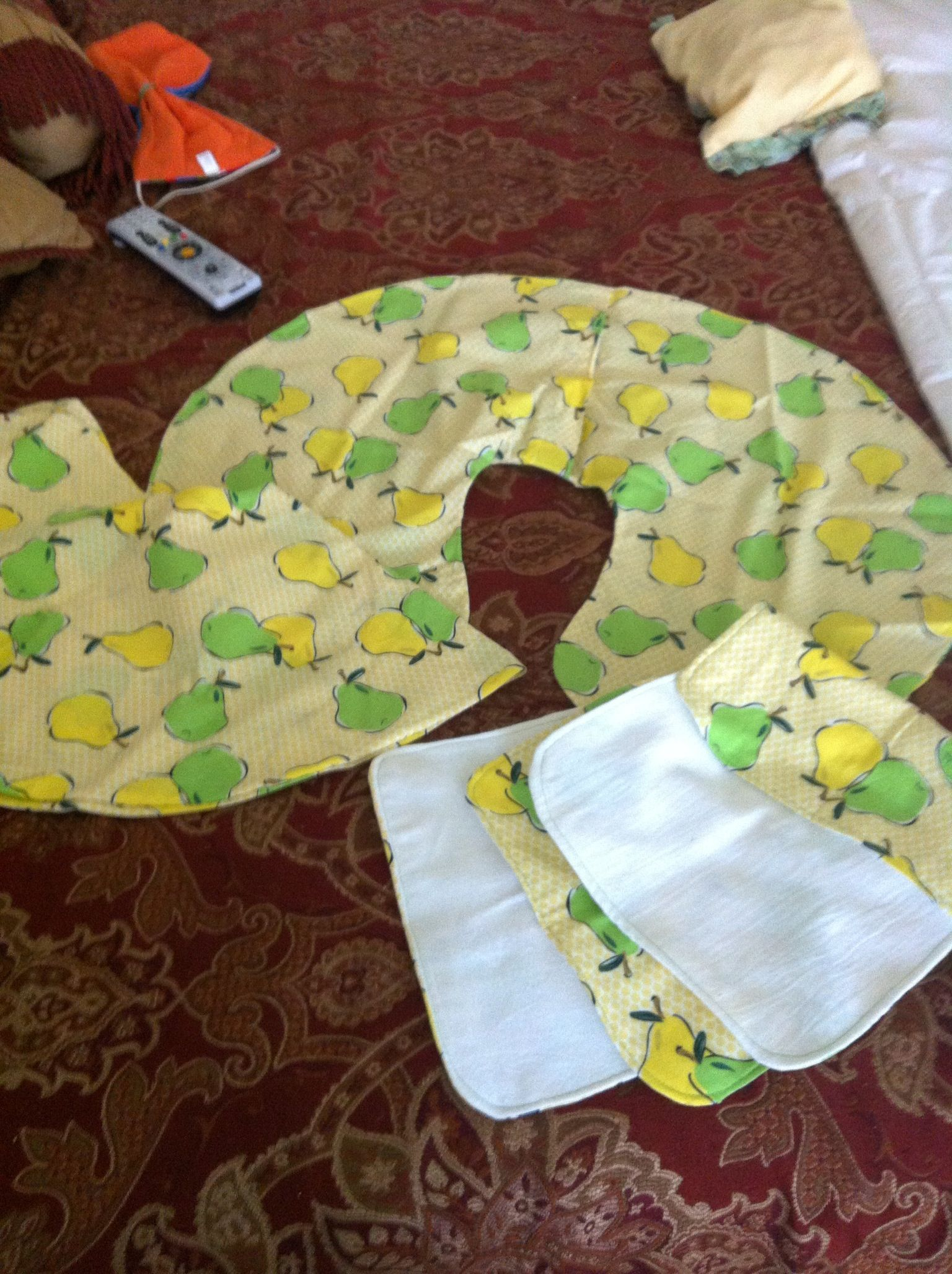 Boppy Nursing Pillow Covers And Matching Burp Rags