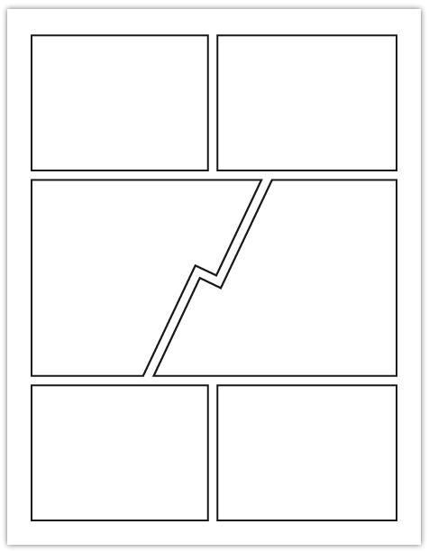 layout on 8 1 x 11 example comic book layout – Comic Strip Template