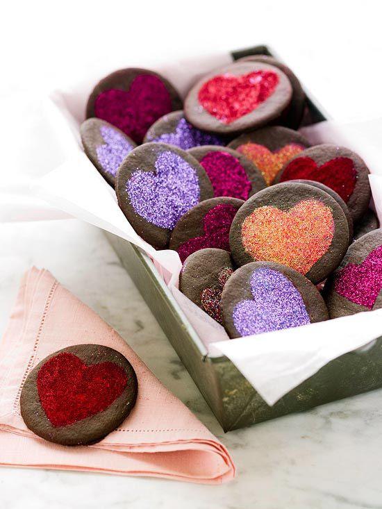 Galletas de corazones d varios colores