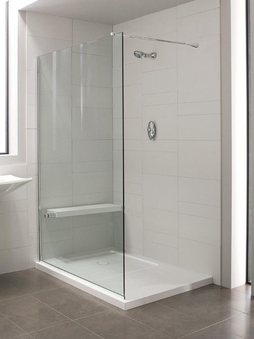 Daryl Minima Glass Divider 1400mm With Integrated Shower