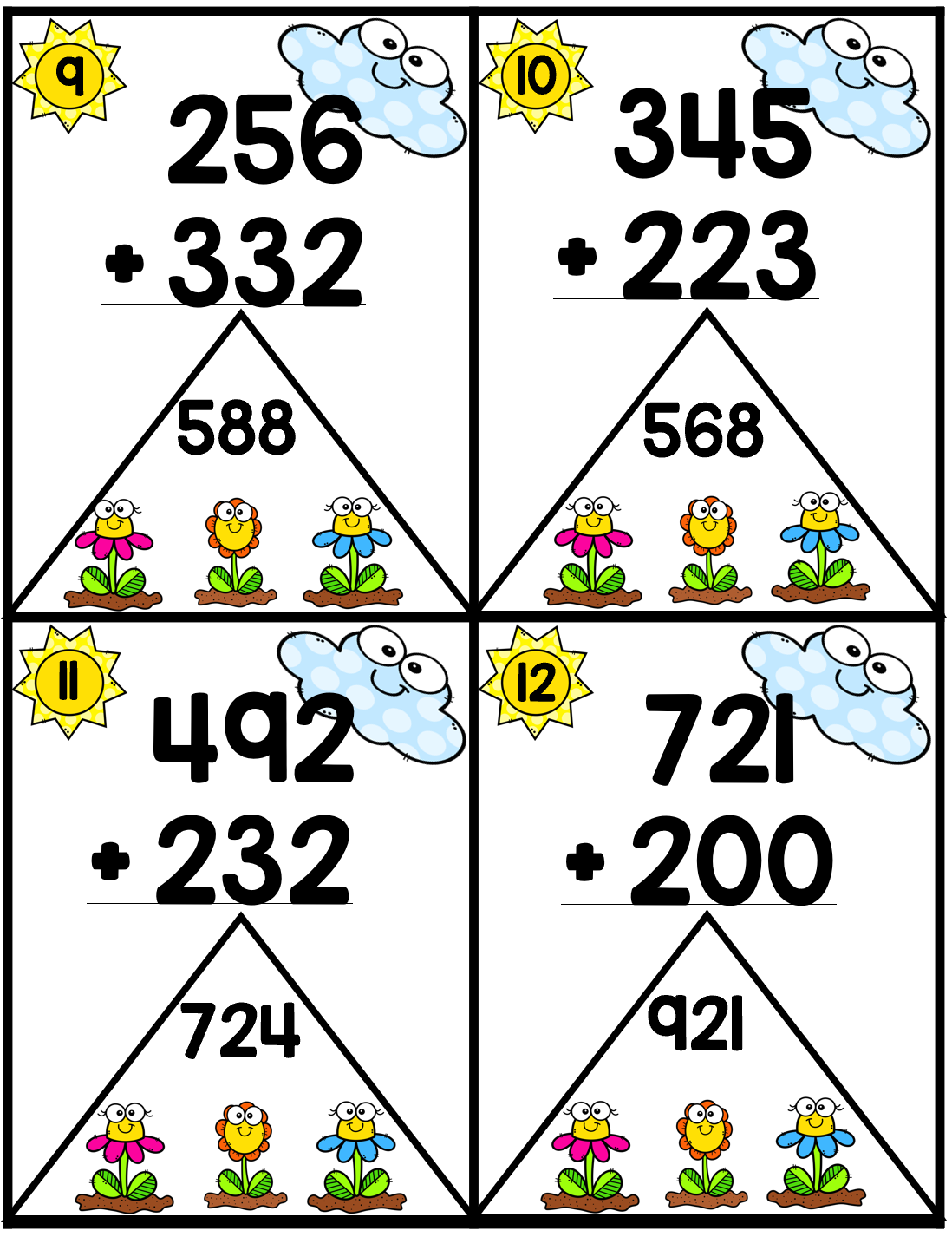 Second Grade Spring Math Centers And Worksheets With