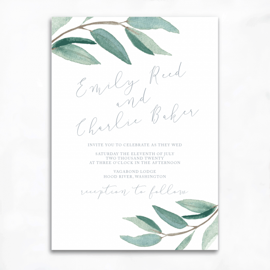 lovely eucalyptus wedding invitations smitten on paper With wedding invitations with eucalyptus
