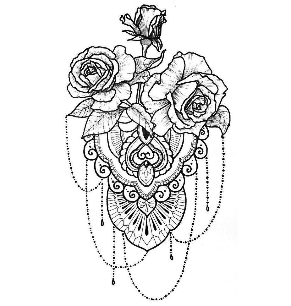 Татуировки на бедро цветы фото
