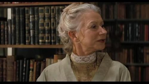 Inkheart (2008). Aunt Elinor has a lovely library... too bad that bad things happened to it...