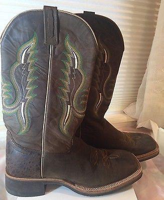 Old West Men's Cowboy Boot Square Toe - Size 8.5 D EXCELLENT CONDITION!! BSM1860 https://t.co/i5LSW1Gw1K https://t.co/OpMsYFQWXj