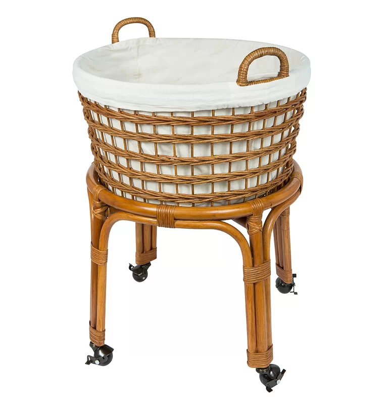 Rolling Wicker Laundry Basket In 2020 Rolling Laundry Basket Laundry Hamper Wicker Laundry Basket