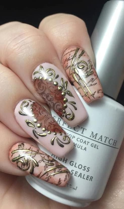 Romantic Vintage Nail Design Nail Art Community Pins Pinterest