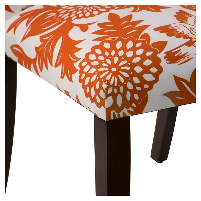 Tilly Upholstered Dining Chair - Garden Bird Orange - Skyline Furniture