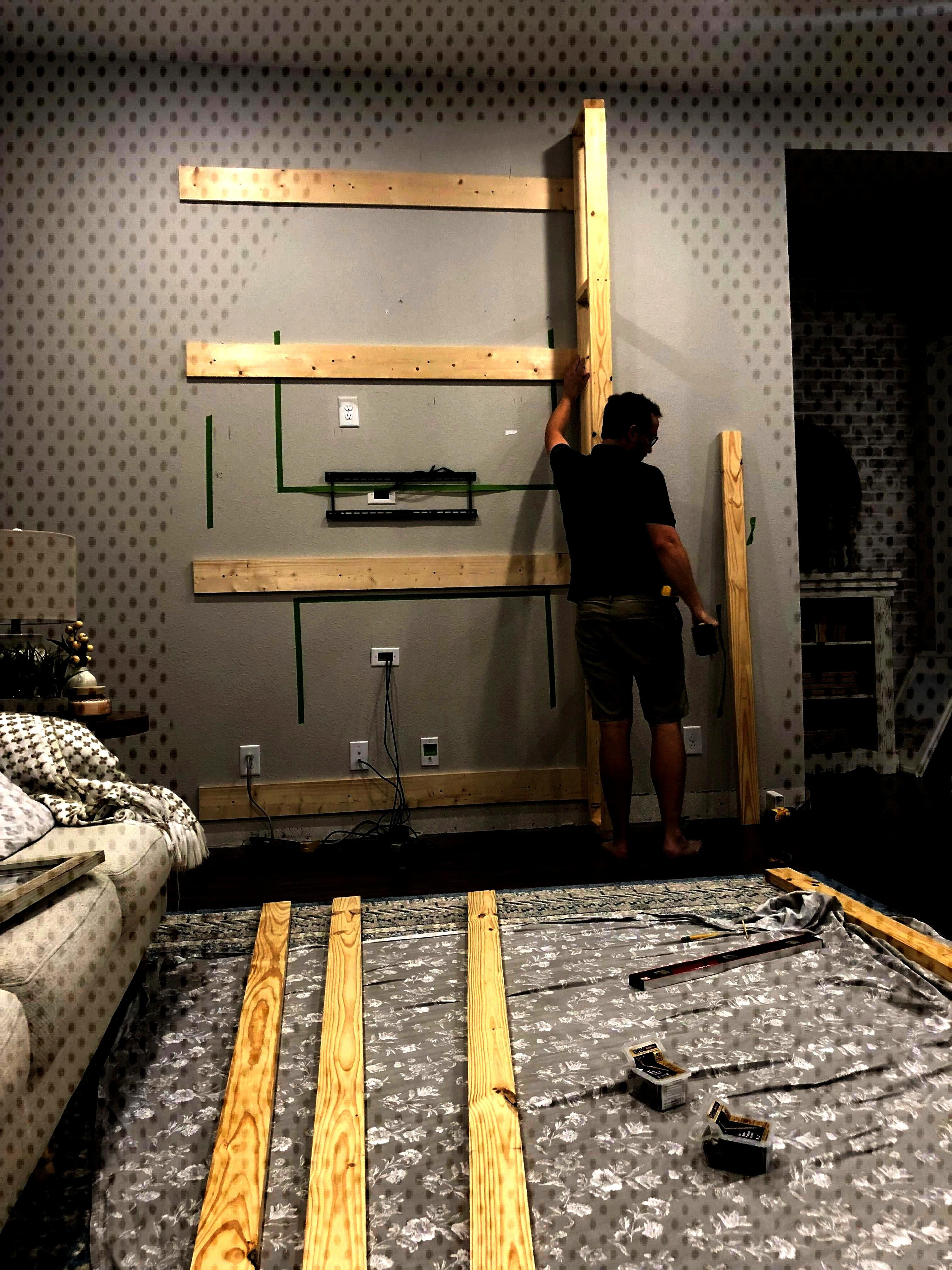 + Our New Samsung Frame TV - The Blooming Nest  Installing a Fireplace + Our New Samsung Frame TV