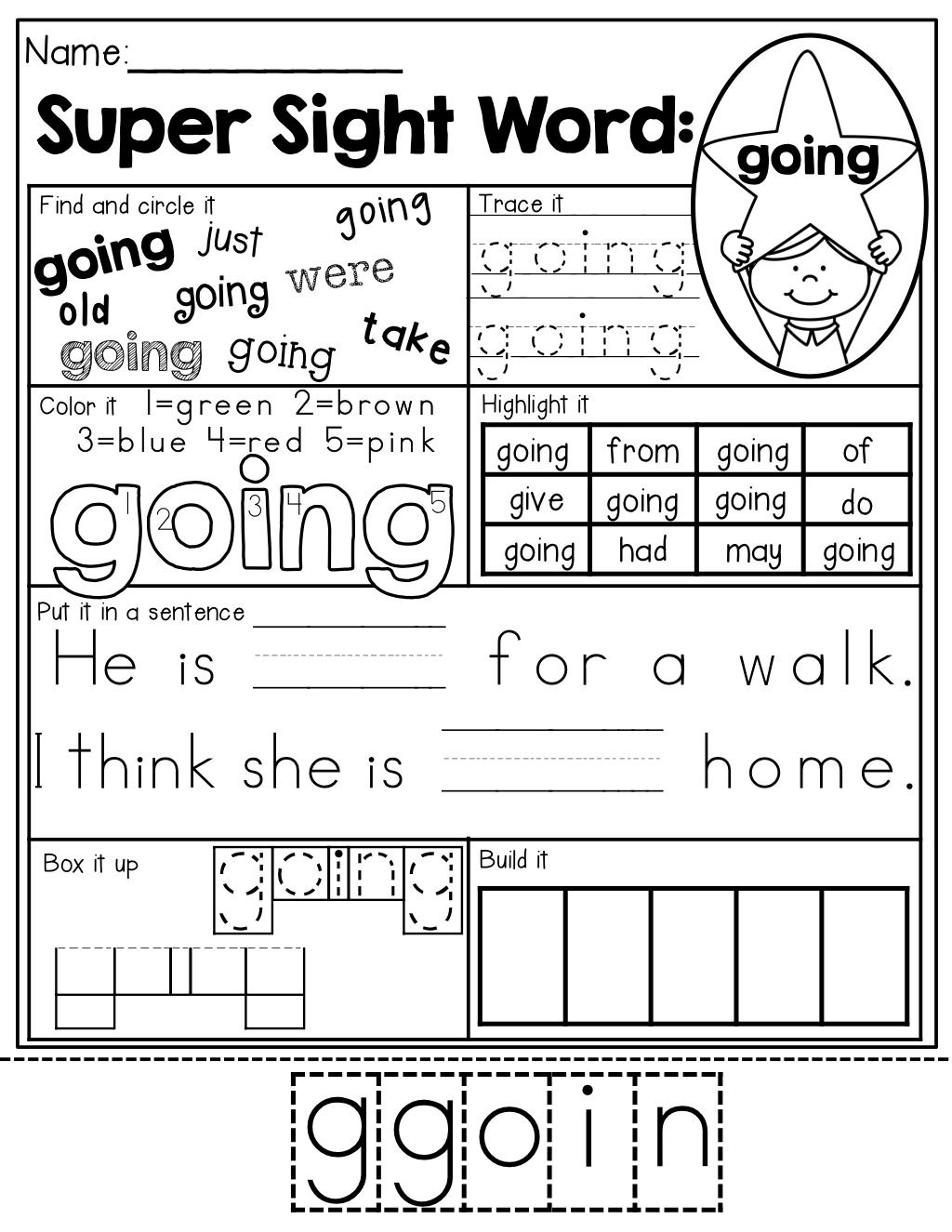 Sight Word Pages So Many Different Ways To Master Each Sight Word