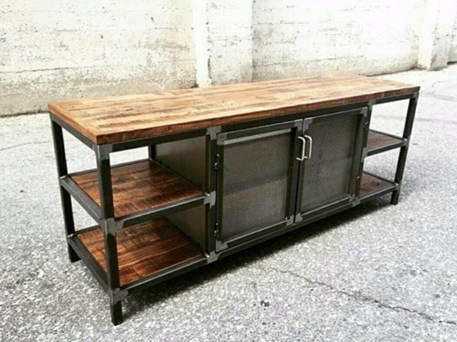 Pin de evodiorodiguez en mesas de centro pinterest for Muebles industriales metal baratos