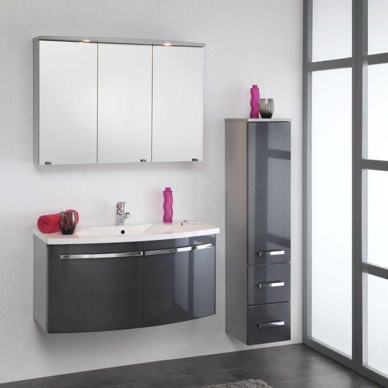 Komplett Badezimmer Hochglanz Anthrazit Badezimmerschranke